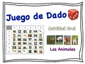 Spanish Animal Vocabulary Speaking Activity for Small Groups (Quick Prep)
