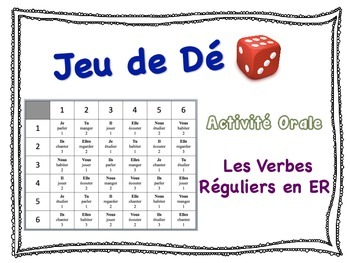 French ER Verbs Speaking Activity for Small Groups