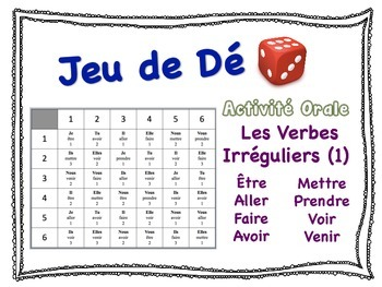 French Irregular Verbs Speaking Activity for Small Groups (1)