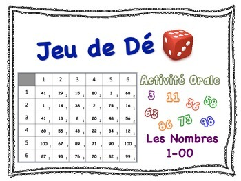 French Numbers 1-100 Speaking Activity for Small Groups (Q