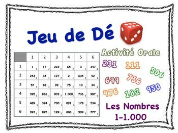 French Numbers 1-1,000 Speaking Activity for Small Groups (Quick Prep)