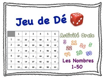 French Numbers 1-50 Speaking Activity for Small Groups (Quick Prep)