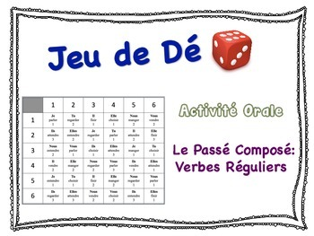 French Passé Composé (Regular Verbs) Speaking Activity for Small Groups