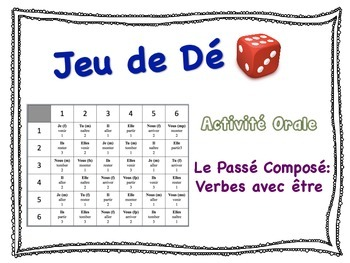 French Passé Composé (Être) Speaking Activity for Small Groups