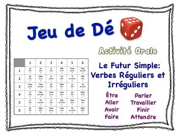 French Simple Future (Regular & Irregular) Speaking Activity for Small Groups