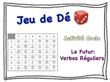 French Simple Future (Regular Verbs) Speaking Activity for Small Groups