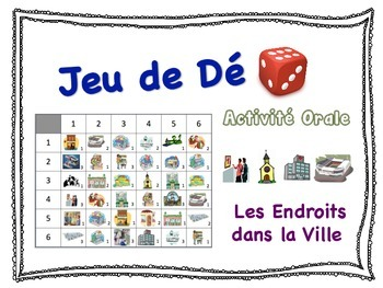 French City Places Speaking Activity for Small Groups (Quick Prep)