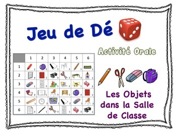 French Classroom Vocabulary Speaking Activity for Small Gr