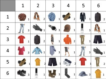French Clothing Speaking Activity for Small Groups (Quick Prep)