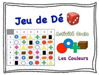French Color Vocabulary Speaking Activity for Small Groups (Quick Prep)
