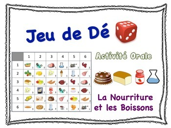 French Food and Drink Speaking Activity for Small Groups (Quick Prep)