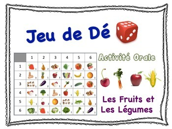 French Fruits & Vegetables Speaking Activity for Small Gro