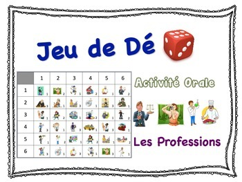 French Jobs and Professions Speaking Activity for Small Gr