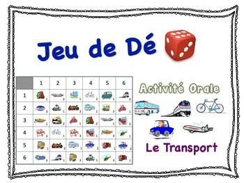 French Transportation Speaking Activity for Small Groups (Quick Prep)