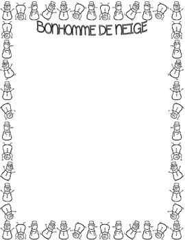 """French ~ """"Snowman"""" Acrostic Poem ~ """"Bonhomme De Neige""""  Poème Acrostiche"""
