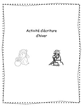 French Snowman Writing Activity