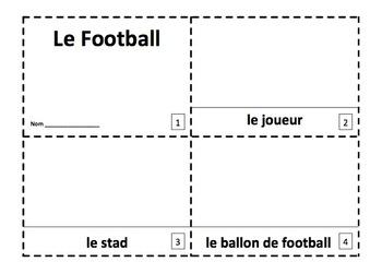 French Soccer 2 Emergent Reader Booklets