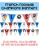 French Soccer Champions Banner Set