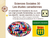 French Social Science, Sciences Sociales 30, Immersion, Saskatchewan