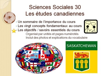 French Social Science, Sciences Sociales 30, Immersion, Sa