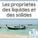 French states of matter unit - Les solides, les liquides et les gaz