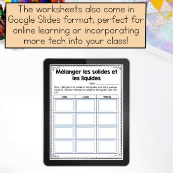 States of Matter Unit / Les propriétés des solides, liquides et gaz (French)