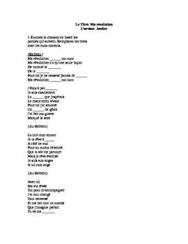 French Song Activity- Jenifer