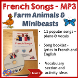 French Immersion - 11 Songs MP3 & Song Booklet - Farm Animals & Mini Beasts