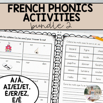 French Sound Activities Bundle #2 / Les activités sur les sons