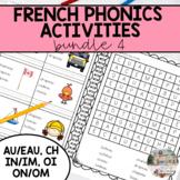 French Sound Activities Bundle #4 / Les activités sur les sons