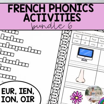 French Sound Activities Bundle #6 / Les activités sur les sons