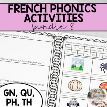 French Sound Activities Bundle #8 / Les activités sur les sons