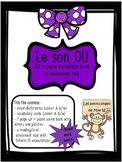 "French Sound Blend ""OU"" activity pack - le son ou"