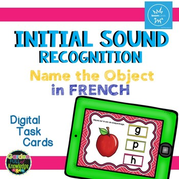 French Sound Recognition - Digital Interactive Task Card - Boom Cards