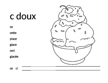 French Sound Sheet - c doux