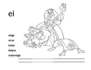 French Sound Sheet -ei