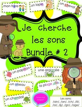 French Sounds- Les sons- Decoding + Reading Bundle 2