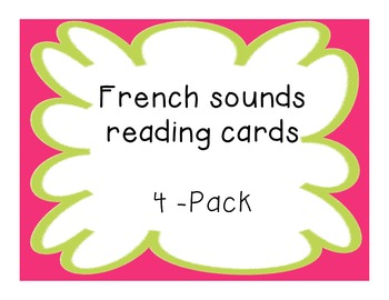 French Sounds Practice Cards Pack