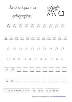 Cahier: Étude de la lettre A (Lecture, Écriture, Centres, Jeux, phonétique)