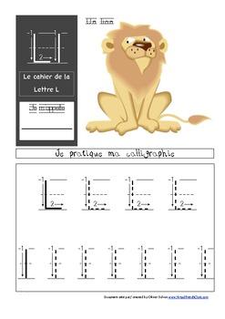Cahier: Étude de la lettre L (Lecture, Écriture, Centres, Jeux, Phonétique)