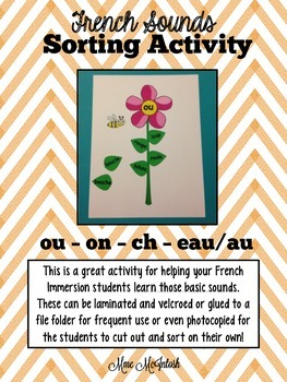 French Sounds Sorting Activity (ou, on, ch, eau/au)