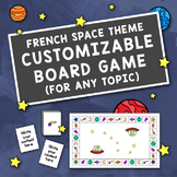 French Space Theme Customizable Board Game for Any Topic