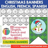 French Spanish English Christmas Activities - Noel Activit