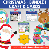 French Spanish English Christmas CRAFT & CARDS Activities