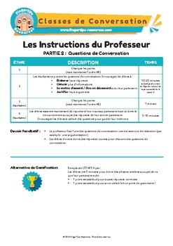 French Speaking Activity Bundle 3