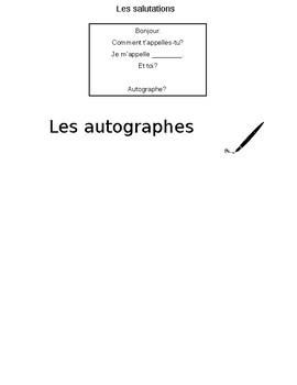 French Speaking Activity - Celebrity Je M'appelle
