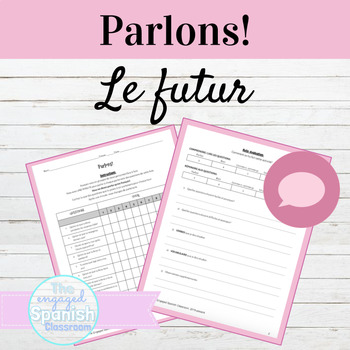 French Speaking Activity Le Futur