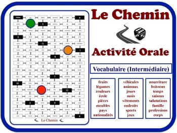 French Speaking Activity for Intermediate Students (Low to Mid). Quick Set-Up