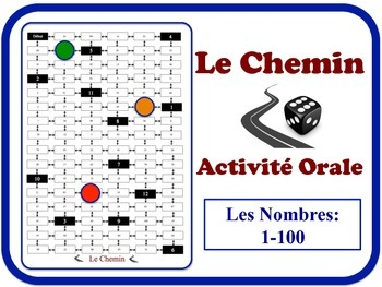 French Numbers 1-100 Speaking Activity. Quick Set-Up