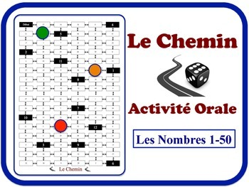 French Numbers 1-50 Speaking Activity. Quick Set-Up